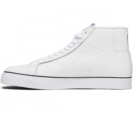 Nike SB X WKND Zoom Blazer Mid QS Shoes - White/White/Midnight Navy - 8.0