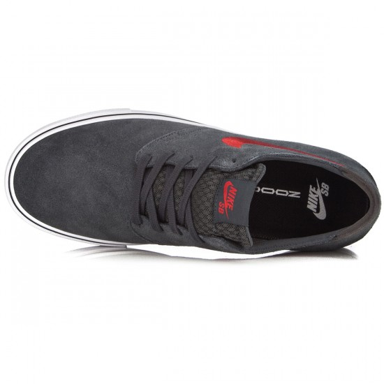Nike Zoom Oneshot SB Shoes - Anthracite/Black/White/Red - 7.5
