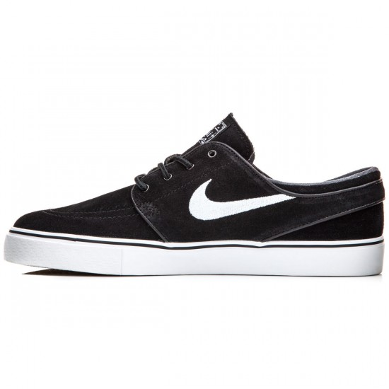 Nike Zoom Stefan Janoski Shoes - Black/Light Brown/White