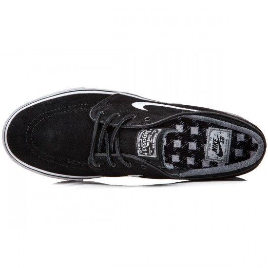 Nike Zoom Stefan Janoski Shoes - Black/Light Brown/White - 9.5