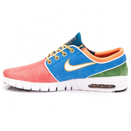Nike Stefan Janoski Max L QS Shoes - Rio Blue/Green/White - 10.0