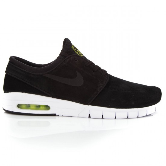 Nike Stefan Janoski Max L Shoes - Black/Black/White - 6.0