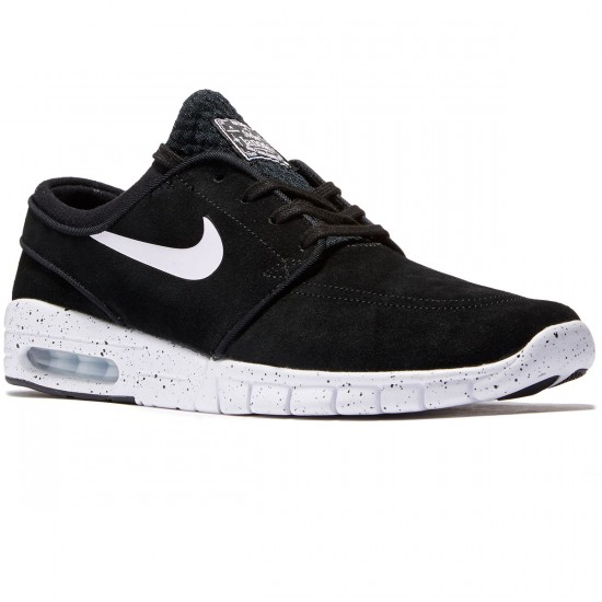 Nike Stefan Janoski Max L Shoes - Black/White - 7.0