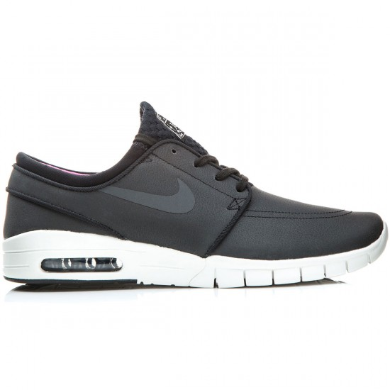 Nike Stefan Janoski Max L Shoes - Black/White/Pink/Anthracite - 6.0
