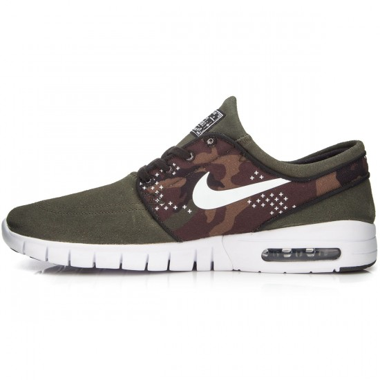 Nike Stefan Janoski Max L Shoes - Sequoia/Black/White - 9.0