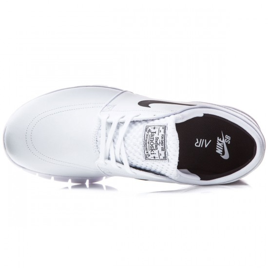 Nike Stefan Janoski Max L Shoes - White/Black - 6.5