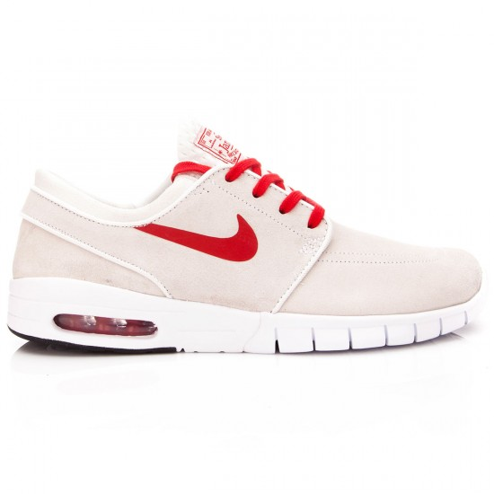 Nike Stefan Janoski Max L Shoes - White/Red - 6.0