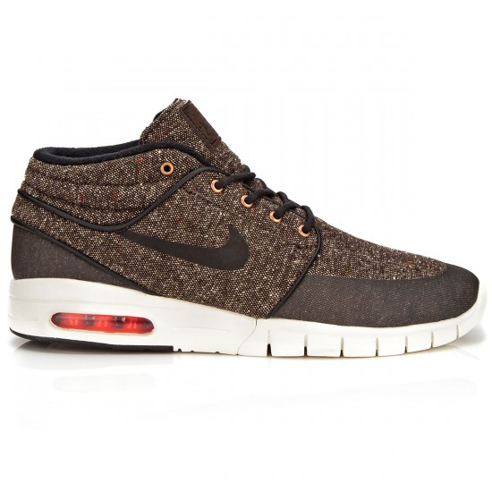 Nike Stefan Janoski Max Mid Shoes - Baroque Brown/Crimson/Black - 6.0