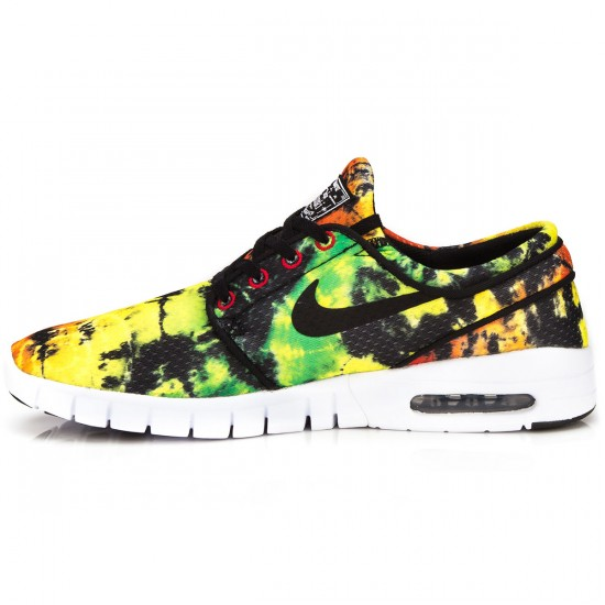 Nike Stefan Janoski Max Premium Shoes - Yellow/Green/Red/Black - 8.0