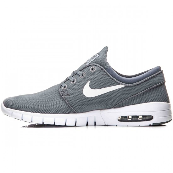 Nike Stefan Janoski Max Shoes - Cool Grey/White/Dark Grey/White - 10.5