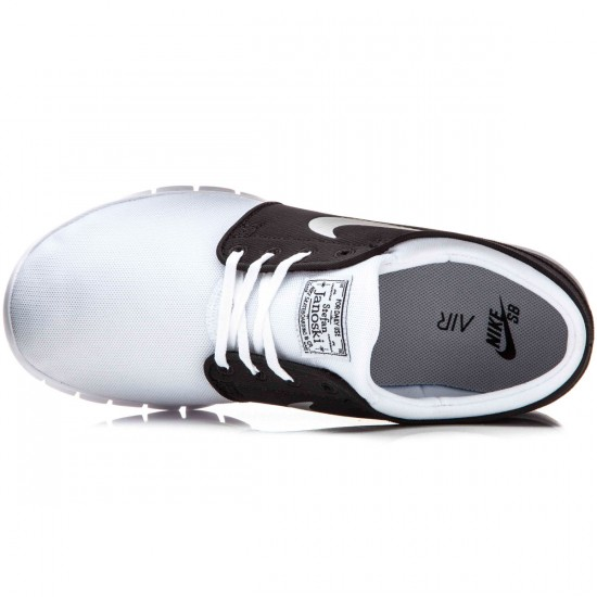 Nike Stefan Janoski Max Shoes - White/Black/Metallic Silver - 10.0