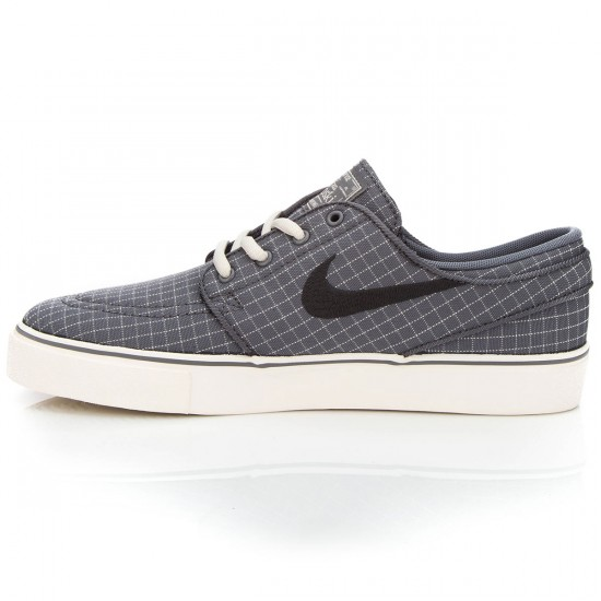 Nike Stefan Janoski Premium Canvas (GS) Big Kid Shoes - Grey/Anthracite/Sail - 5Y