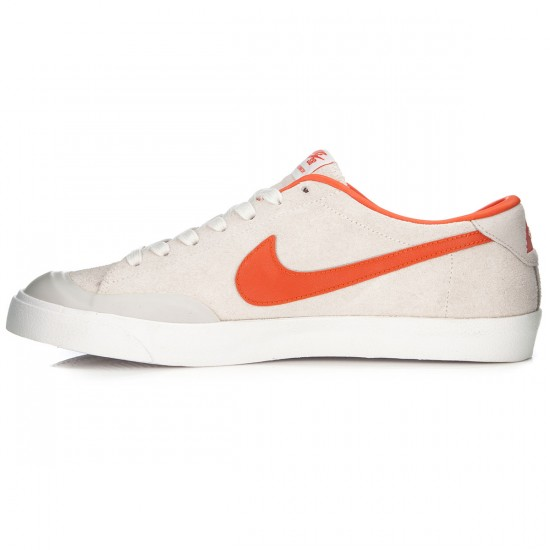 Nike Zoom All Court CK Shoes - Ivory/Light Bone/White/Orange - 6.0