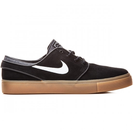Nike Zoom Stefan Janoski Shoes - Black/White/Gum - 10.5
