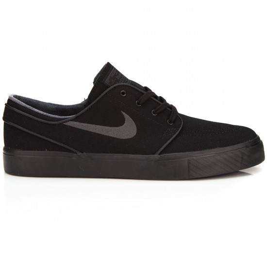 Nike Zoom Stefan Janoski Canvas Shoes - Black/Anthracite - 6.0