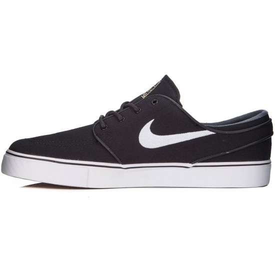 Nike Zoom Stefan Janoski Canvas Shoes - Black/Light Brown/Gold/White - 4.0