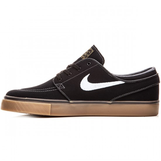 Nike Zoom Stefan Janoski Canvas Shoes - Black/Metallic Gold/Brown/White - 8.0