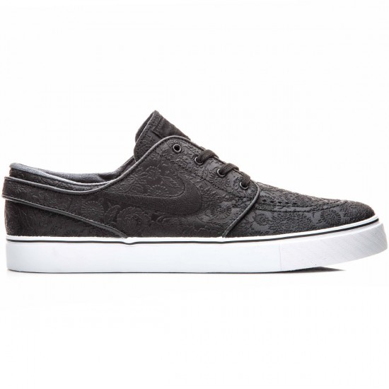 Nike Zoom Stefan Janoski Elite Shoes - Black/White/Black - 10.0
