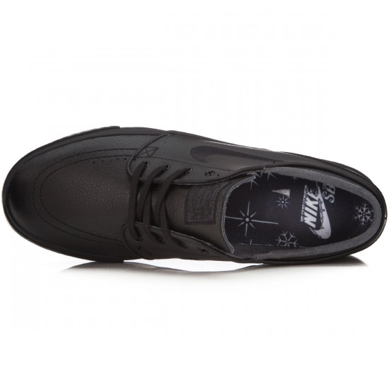 Nike Zoom Stefan Janoski L Shoes - Black/Black/Anthracite - 7.0