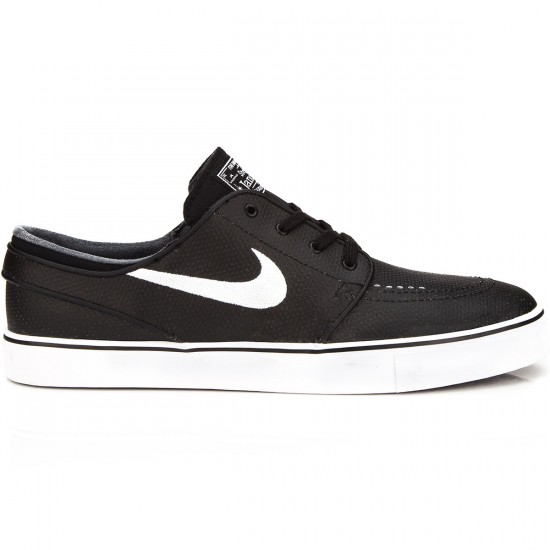 Nike Zoom Stefan Janoski L Shoes - Black/Wolf Grey/White - 6.0