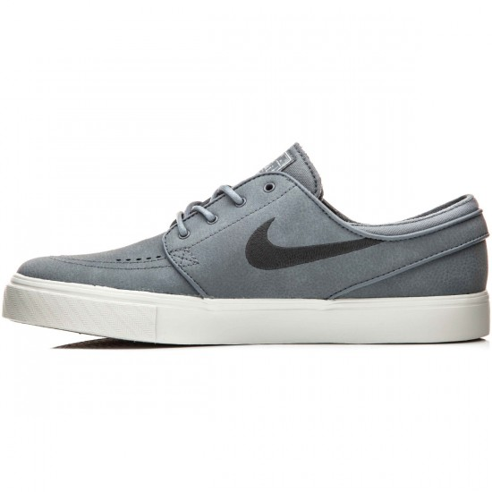 Nike Zoom Stefan Janoski L Shoes - Cool Grey/Light Bone/Anthracite - 10.0