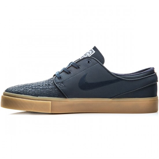 Nike Zoom Stefan Janoski L Shoes - Dark Obsidian/White/Gum - 6.0