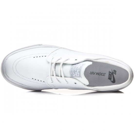 Nike Zoom Stefan Janoski L Shoes - White/Wolf Grey/White - 10.0