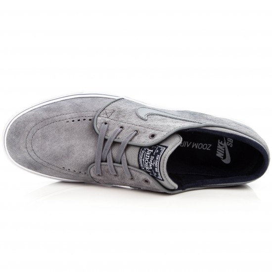 Nike Zoom Stefan Janoski SE Shoes - Grey/Obsidian/White - 10.0