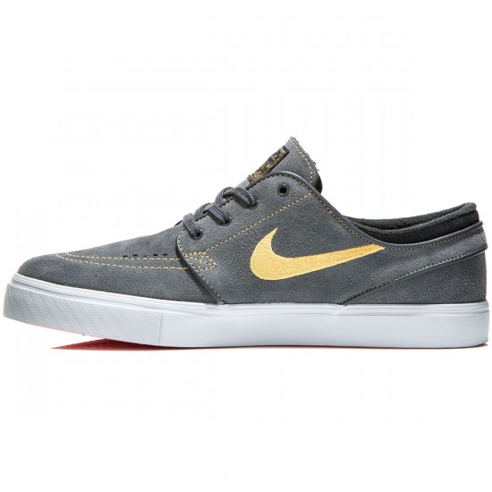 Nike Zoom Stefan Janoski Shoes - Anthracite/Black/Crimson/Gold - 6.0