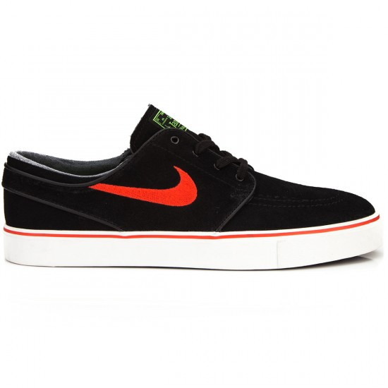 Nike Zoom Stefan Janoski Shoes - Black/Green/Platinum - 6.0