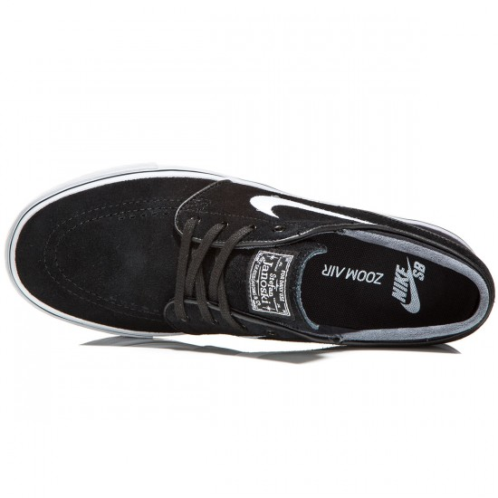 Nike Zoom Stefan Janoski Shoes - Black/White - 8.0