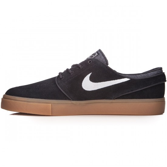Nike Zoom Stefan Janoski Youth Shoes - Black/White/Gum - 4.0