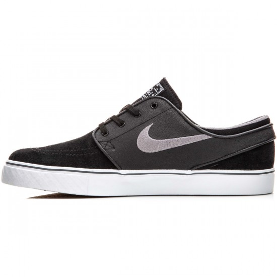 Nike Zoom Stefan Janoski Shoes - Black/White/Gum/Graphite - 10.0