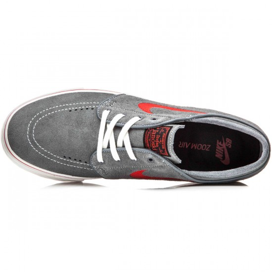 Nike Zoom Stefan Janoski Shoes - Cool Grey/Red/Cool Grey/Black - 10.0
