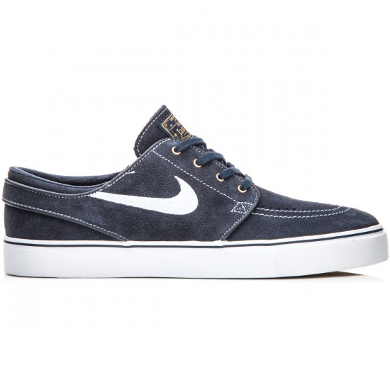 Nike Zoom Stefan Janoski Shoes - Dark Obsidian/White/Gum - 8.0