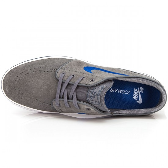 Nike Zoom Stefan Janoski Shoes - Grey Squadron/Blue Royal/White - 6.0