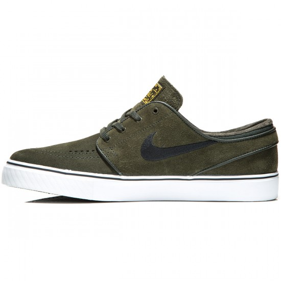 Nike Zoom Stefan Janoski Shoes - Sequoia/Gold/White/Black - 6.0