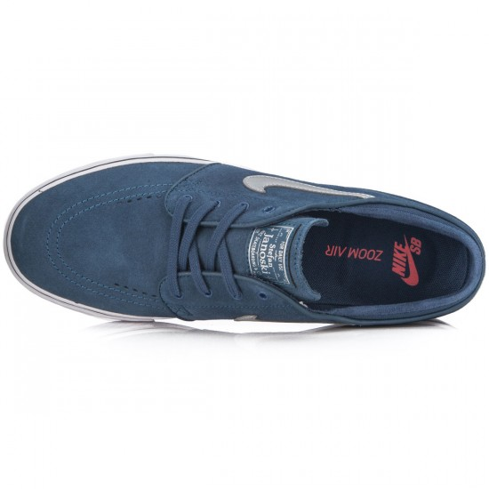 Nike Zoom Stefan Janoski Shoes - Squadron/Blue/Brown/Silver - 6.0