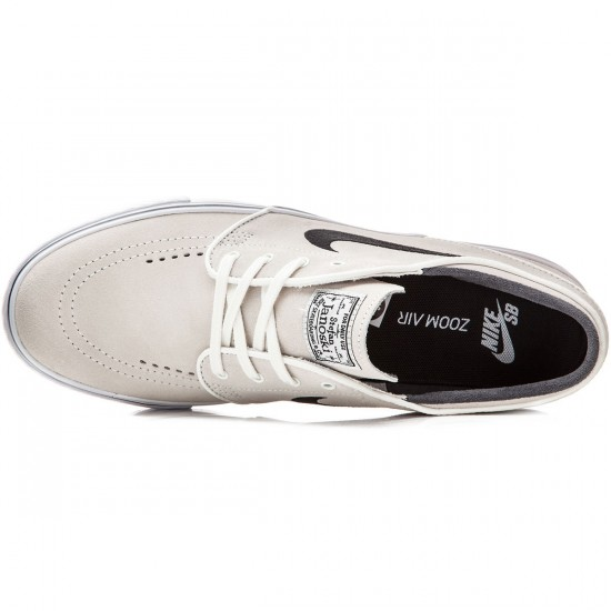 Nike Zoom Stefan Janoski Shoes - White/White/Black - 8.5