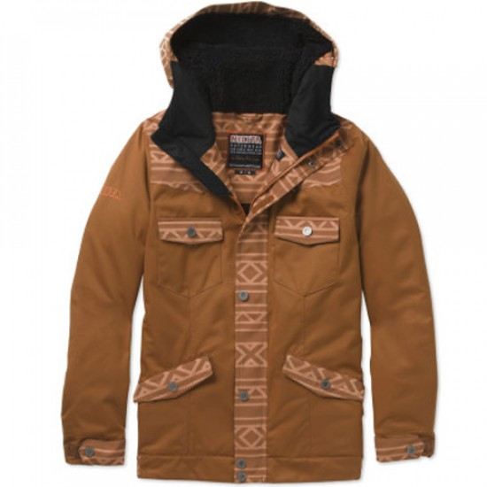 Nikita Mayon Jacket Denim - Gingerbread/Nasturtium