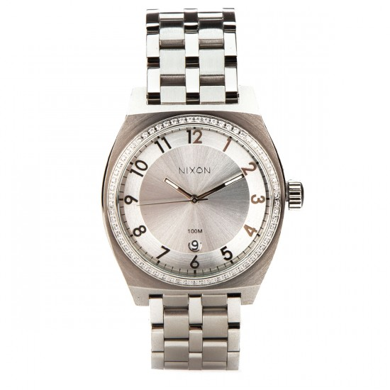 Nixon Monopoly Watch - All Silver Crystal