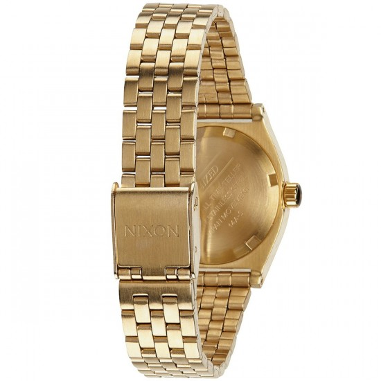 Nixon Small Time Teller Watch - All Gold Crystal