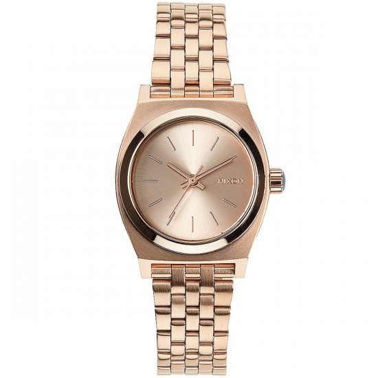 Nixon Small Time Teller Watch - All Rose Gold
