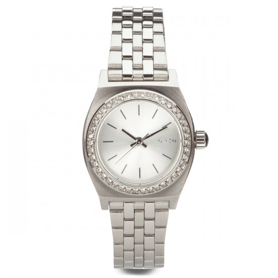 Nixon Small Time Teller Watch - All Silver Crystal