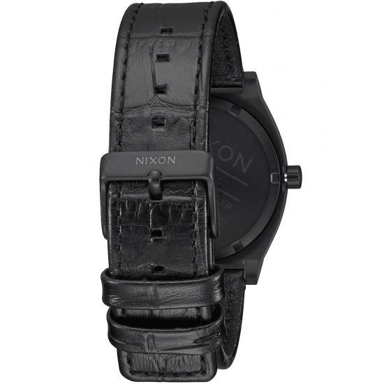 Nixon Time Teller Watch - Black Gator