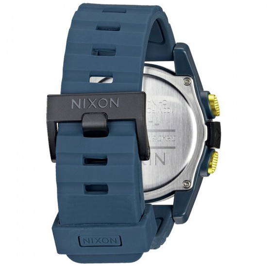 Nixon Unit Watch - Steel Blue/Yellow Ano