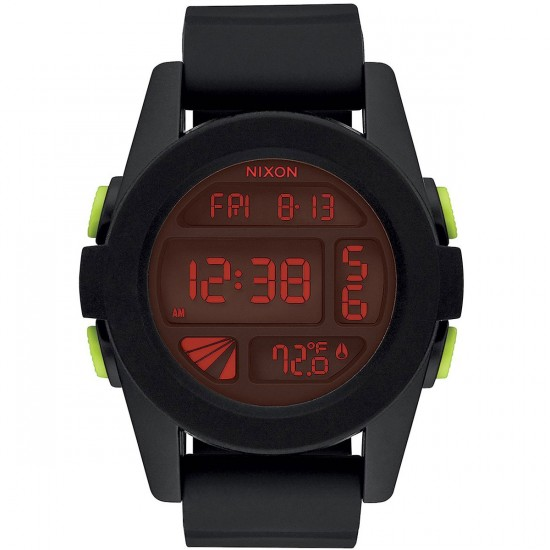 Nixon Unit Watch - All Black/Red