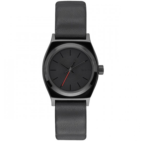 Nixon Vader Small Time Teller Leather Watch - Vader Black