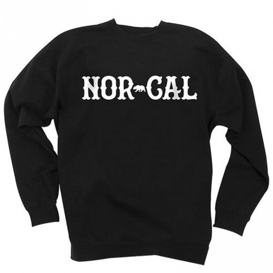Nor Cal True North Crew Neck Sweatshirt - Black