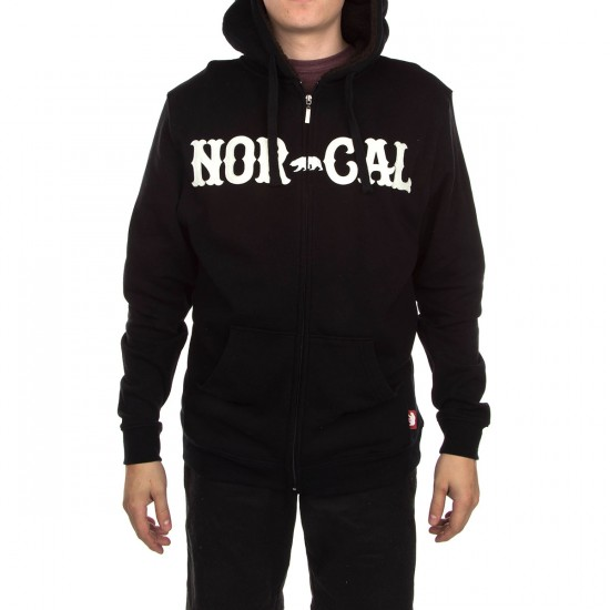 Nor Cal True North Zip Hoodie - Black